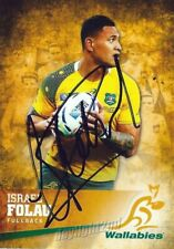 ✺Signed✺ 2016 WALLABIES Rugby Union Card ISRAEL FOLAU