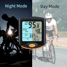 Wireless Bike Cycling Bicycle Cycle Computer Odometer Speedometer Backlight New