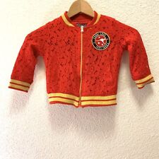 Coogi Kids Red Floral Lace Jacket Australian Kids Style Jacket