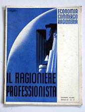 IL RAGIONERIERE PROFESSIONISTA sindacato nazionale fascista DICEMBRE 1934