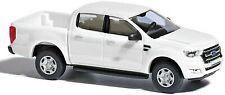 BUSCH Modell 1:87/H0 PKW / Geländewagen Ford Ranger Pick-up, weiss #52802