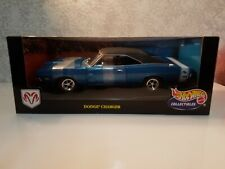 Hot Wheels '69 DODGE CHARGER R/T 1:18 *Blue* 2000 Collectibles Factory Sealed