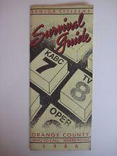 Vintage 1986 KABC Channel 7 Los Angeles Senior Citizens Survival Guide for OC