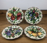 Sakura Fruit Design Salad Luncheon Plates 8 Inch Onieda Casual Dining Set Of 4