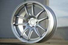 18x9.5 AodHan DS02 5x114.3 +15 Silver w/Machined Rims (Set of 4)