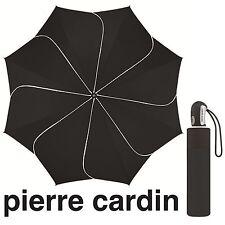 pierre cardin Regenschirm Taschenschirm Auf-Zu Automatik Sunflower black & white