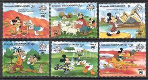 Grenada Grenadines 1988 Disney Characters SYDPEX MNH (SC# 998-1003)