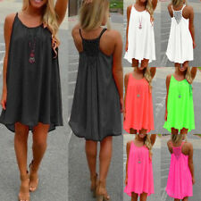 Womens Summer Beach Wear Bikini Cover Up Boho Swimwear Ladies Swing Sun Dress P9