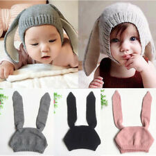 Baby Hooded Hat Scarf Earflap Warm Toddler Cap Winter Knitted Beanie