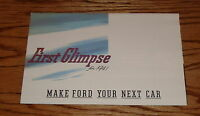 1941 Ford Car Foldout Sales Brochure First Glimpse 41