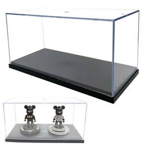 UK 26cm Perspex Acrylic Display Case H Box Plastic Base Dustproof Figure Trophy