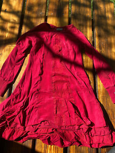 Girls size 8 years naartjie red a-line panel dress pre-owned
