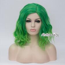 45cm Heat Resistant Curly Medium Long Anime Cosplay Wig+Cap 14 Colors Halloween