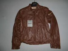 605161M48M WASP WOMAN IN LEATHER JACKET: SIZE 48 COLOR TOBACCO