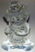 Vintage Viking Glass Clown Frosted Satin Glass Bookend Paperweight