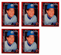 (5) 1992 Legends #36 Roberto Alomar Baseball Card Lot Toronto Blue Jays