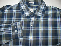Peter Millar Men's Sz 2XL100% Cotton Plaid Long Sleeve Button up Shirt