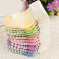 Baby Boy Girl Cotton Stripe Socks NewBorn Infant Toddler Kids Soft Winter Sock