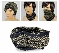 #404 Multi Function Knit Scarf : Winter Headwear UV COOLMAX Bandana Tube Mask