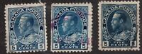 Sc #111 111a 111b all colors - Admiral - 5c - c.1912 -  Canada - Used -