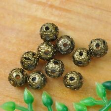 200pcs bronze Charms Hollow Loose Spacer Beads Findings 4mm