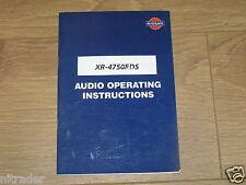 Sistema De Audio Nissan Manual Xr - 4750RDS