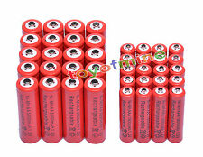 20 AA 3000mAh + 20 AAA 1800mAh 1.2V NI-MH Rechargeable Battery 2A 3A Red Cell