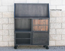 Mid Century Modern/Vintage Industrial Bar Cart (Liquor Cabinet). Cupboard.