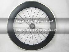 80mm depth carbon wheel alloy brake surface fixed gear single speed rear wheel