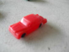 Small Vintage Plastic Red Car Look