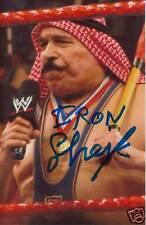 Iron Sheik WWE Auto 4x6 photo Ring manager mic Legend