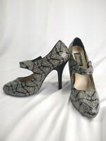 BLACK & WHITE DAMASK MARY JANE HEELS By Demonia Size 12 Women Drag Goth Punk Emo