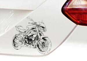 Auto Motorrad Aufkleber Sticker ähnlich Triumph Street Triple 675