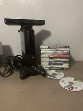 Microsoft Xbox 360 E Launch Edition 120Gb Black Console + Kinect + Games
