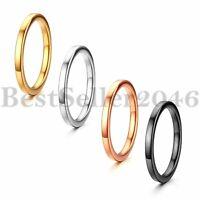 4pcs Women Girls Stainless Steel 2mm Stacking Knuckle Midi Wedding Ring Set