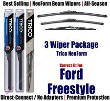 3pk Wipers Front & Rear - NeoForm - fit 2007 Ford Freestyle - 162415/2015/30130