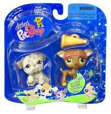 Littlest Pet Shop Hasbro GREYHOUND WHIPPET lot #507 BULLDOG 508 Rare Retired NIB