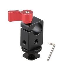 Hot Shoe Mount 15mm Single Rod Clamp For DSLR Rig System Support Flash Light