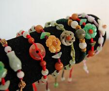 JOB LOT 50 Mixed Handmade Costume Ethnic Jade Gemstone Beaded Bracelets RRP £250