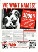 1939 Pard Dog Food puppy naming contest vintage photo Print Ad ADL15