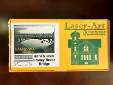 Model Railroad STONEY BROOK BRIDGE BRANCHLINE Wooden Laser-Art (#874 N-Scale)