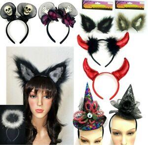 Halloween Headband Fancy Dress Costume Witch Party Hat Devil Horns Creepy