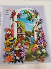 Bits and Pieces 750 Piece Puzzle Lakeside Arbor Shaped Puzzle