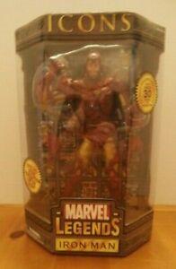 "Toy Biz Marvel Legends Icons Iron Man 12"" Action Figure Gold Variation NIB Comic"