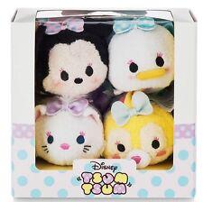 Disney Tsum Tsum MINNIE MOUSE & FRIENDS DRESSY Plush Set (4 pcs) U.S. Seller