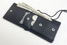 Genuine Leather ID Card Badge Holder/Neck Strap/Pouch/Passport Card/Coin Wallet