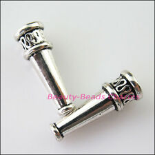 12Pcs Tibetan Silver Cone Speaker End Bead Caps Connectors 7x20mm