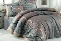 VHD - Spiral %100 Cotton Duvet Cover Set Ultra Soft Hypoallergenic 3 Pieces