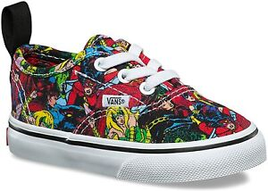 Vans Off The Wall Toddler X Marvel Authentic Elastic Lace Shoes - Multi Color