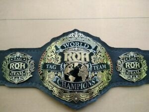 ROH WORLD TAG TEAM CHAMPIONS BELT WITH  4MM IN BRASS